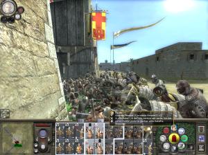 Choque de lanceiros camponeses e Infantaria Templária com a guarda pessoal  do general inimigo
